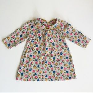 Baby Boden Gray Floral Long-Sleeve Dress 6-12